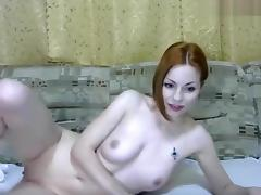 Naked Nymphaea on the couch
