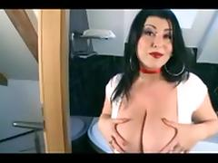Busty Natural Big Tits Masturabation In The Shower porn tube video