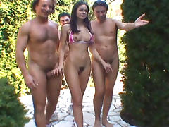 Lucy Lee gets hardcored by 10 guys porn tube video