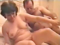 Mature threesome porn tube video