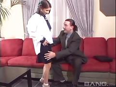 Barely legal teen in pigtails gets impaled with a big cock