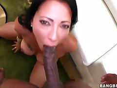 Zoey Holloway squirts on big black cock