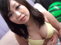 Her bikini comes off so this Asian girl can fuck in the back of a van porn tube video