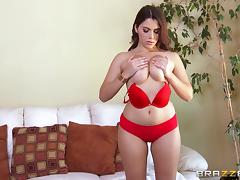 Curvy brunette in lingerie gets ass fucked and deepthroated porn tube video