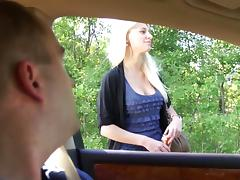 Car, Big Cock, Big Tits, Blowjob, Car, Cum