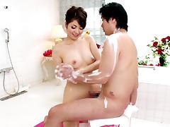 Best Japanese whore Yuna Aino in Horny JAV censored Bathroom, Fetish video
