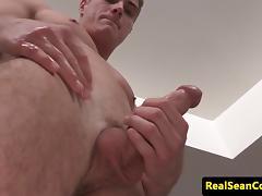 Muscular stud jizzing off his perfect bigdick tube porn video