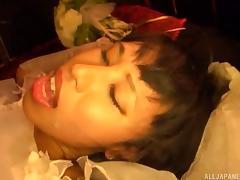 Japanese bride getting banged hard on her wedding night tube porn video
