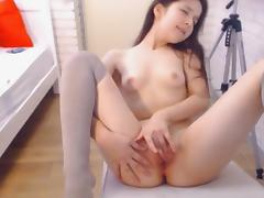 Horny Chick Fingering Rubbing Pussy and Reaches Orgasm