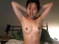 Asian Camgirl Cums with Wand