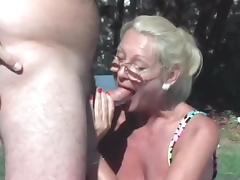 Granny fucks other man and Husband tube porn video