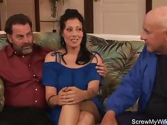 Wild Brunette Nymphomaniac Swinger tube porn video