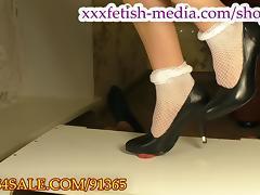 Goddess squashing cock heels