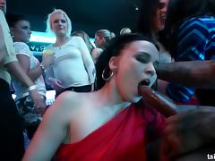 Mouth-watering babes visit the nightclub for some pussy penetration porn tube video