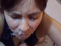 Dude Gives His Woman A Big Messy Facial