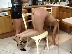 Nice Lesbians Spanking porn tube video