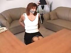 Milf tape bound and gagged