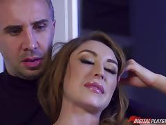 Christiana has a shaved pussy that deserves to be banged with pleasure porn tube video