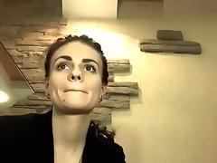 Brunette AmiraFire masturbating on webcam