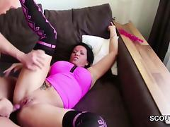 German Step-Son Caught Mom and Fuck her Anal and Cum