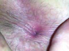 Wife's hairy pussy and bum hole