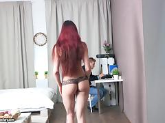 Lovenia gets her perfect ass fucked and takes a load on her face porn tube video