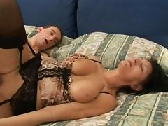Brunette milf tits mature