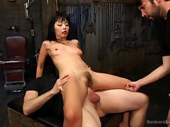 marica gets her holes drilled by a group porn tube video