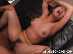 Asian babe getting roped up and she is fucked dearly
