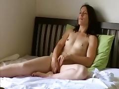 Amateur brunette vid with me fondling my curves tube porn video