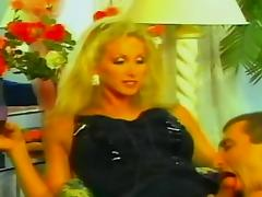 Vintage blonde fucks a guy tube porn video