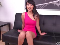 Skinny Asian Evelyn Lin masturbating and eaten out erotically porn tube video
