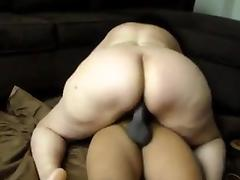 bbw pushing a black cock intoo her holes porn tube video