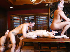 Brenner Bolton, Rafael Alencar, Roman Todd, Seth Santoro in Godfather Part 4 - JizzOrgy tube porn video