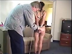 Gagging, Amateur, BDSM, Bound, Brunette, Choking