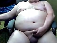 Sexy grandpa stroke and cum on cam tube porn video