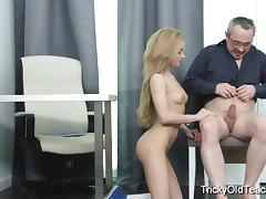 Teacher, Babe, Blonde, Cum in Mouth, Fucking, Hardcore