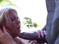 Blonde cougar sucking fucking big black cock porn tube video