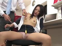 Asian office milf 3sum porn tube video