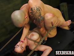 Cute girl Kylie loves bondage sex action