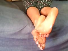 Anastasia's footjob tube porn video