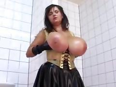 Latex Milf Milena Huge Natural Tits porn tube video