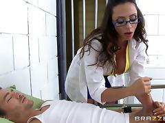 MILF prison doctor gets fucked by an inmate with a big dick tube porn video