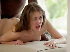 Brunette, Big Cock, Black, Blowjob, Brunette, Doggystyle