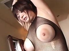 Arousing Asian babe Sakura sucks fat cock