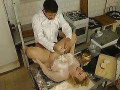 Kiki Moreen fucking in the kitchen tube porn video