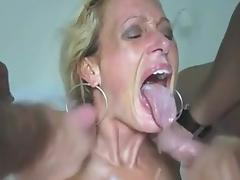 Threesome, Amateur, Cum in Mouth, Facial, Group, Mature