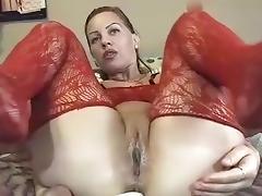 Webcam, Brunette, Couple, Femdom, Stockings, Webcam