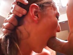 Brandi deep throat threesome