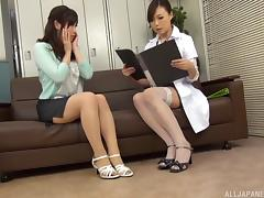 Doctor, Asian, Doctor, Fishnet, Japanese, Lesbian